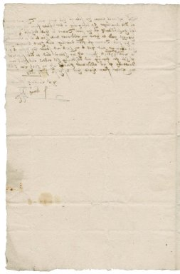 Letter from J. Kemp to Nathaniel Bacon