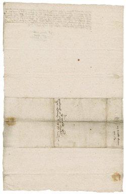 Letter from Christopher King [i.e. Kinges] to Martin Man