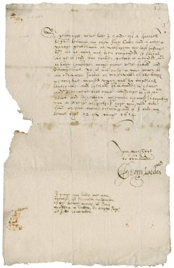 Letter from George Leeds to Nathaniel Bacon