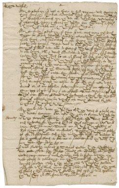 Letter from Jonas Legge to Roger Townshend, 1st bart.