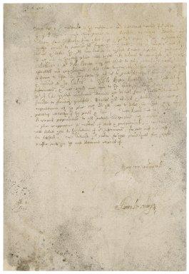 Letter from Hamon LeStrange to Sir Henry Calthorp