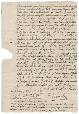 Letter from Edward Fiennes de Clinton, Earl of Lincoln, to Sir Nicholas Bacon, lord keeper