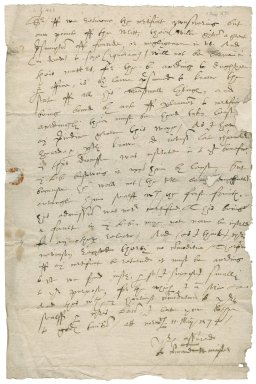 Letter from Dr. William Master, Chancellor of Norwich diocese to Nathaniel Bacon