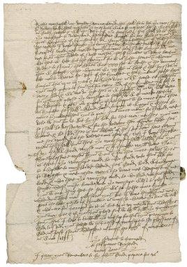 Letter from Richard Manser [i.e. Mansuere] to Nathaniel Bacon