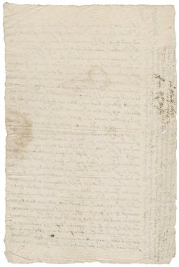 Letter from Richard Mason to [Roger Townshend, 1st bart.?]