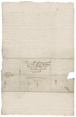 Letter from Robert Mighells to Nathaniel Bacon