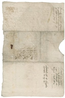 Letter from William Morley to Jane, Lady Berkeley
