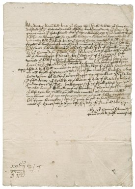 Letter from John Moundeford [i.e. Mownford or Mounforde] to Sir Nicholas Bacon, lord keeper