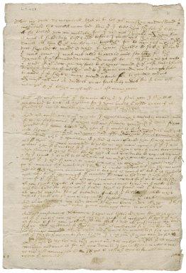 Letter from John Mounford [i.e. Munforthe] to Nathaniel Bacon