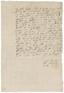 Letter from Lady Elizabeth (Bacon) Peryam to Nathaniel Bacon