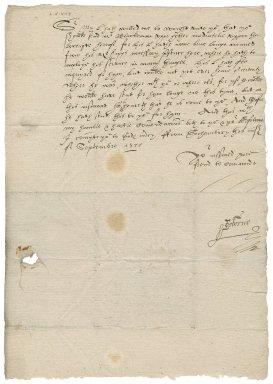 Letter from John Osborne to Nathaniel Bacon
