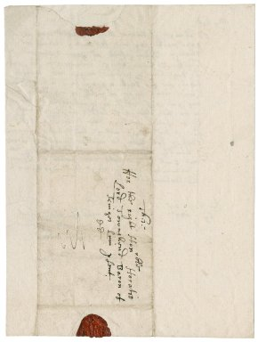 Letter from Charles Parkins to Horatio, Viscount Townshend