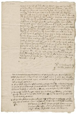 Letter from William Paston to Nathaniel Bacon