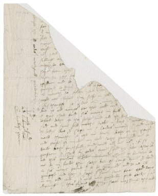Letter from Lady Elizabeth (Bacon) Peryam to Nathaniel Bacon : fragment