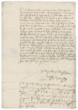 Letter from Sir William Peryam to Nathaniel Bacon