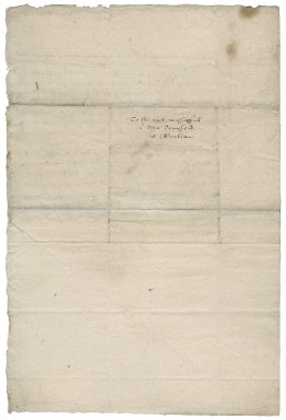 Letter from M. Pattenson to Roger Townshend [(1543?-1590)?]