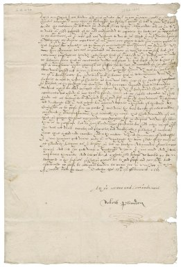 Letter from Robert Plandon to Nathaniel Bacon
