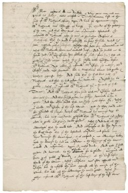 Letter from Matthew Plumb [i.e. Plombe] to Martin Man