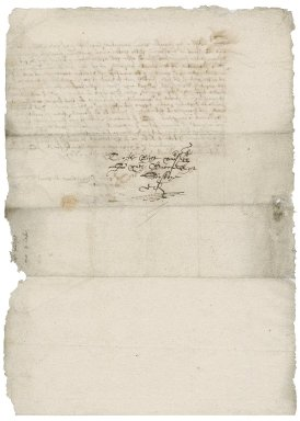 Letter from William Plumstead [i.e. Plumsted] to Nathaniel Bacon