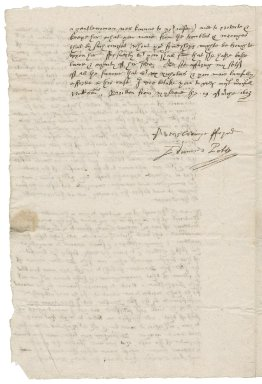 Letter from Edmund Poley to Nathaniel Bacon