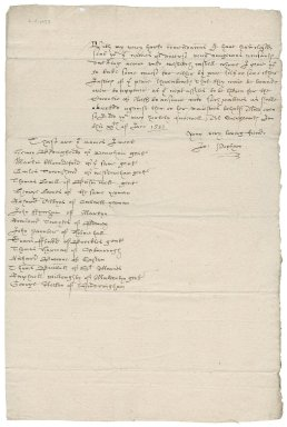 Letter from Sir John Popham to Robert Redmayne : copy