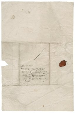 Letter from Charles Potts to Roger Townshend, 1st bart.