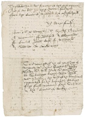 Letter from the Privy Council to the Bishope of Norwich, Mr. Justice Gawdy, Sir Christopher Heydon, Sir William Buttes, Sir Nicholas LeStrange, Robert Bell, William Paston, and the rest of the commissioners appointed for the taxing and levying of the first payment of the subsidy in the county of Norfolk : copy