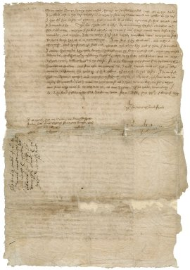 Letter from Nathaniel Bacon to Lady Jane Townshend