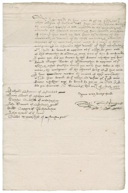 Letter from Robert Redmayne, Chancellor of Norwich diocese, to Nathaniel Bacon