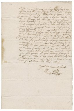 Letter from Robert Rich, Baron Rich, to Nathaniel Bacon