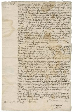 Letter from John Richers to Nathaniel Bacon