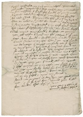 Letter from Arthur Robsart to Edward Walpole