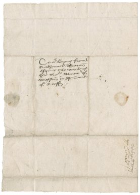 Letter from Sir Ralph Sadleir and John Brograve, Chancellor and attorney of the Chancellor of the Duchy of Lancaster, to Nathaniel Bacon