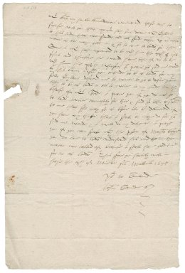 Letter from John Saunders to Nathaniel Bacon