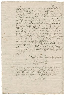 Letter from Philip Scudamore to Nathaniel Bacon