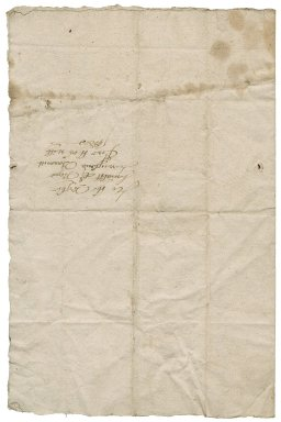 Letter from Richard Sherwin to Roger Townshend, 1st bart.