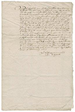 Letter from John Shovell to Roger Townshend, 1st bart.