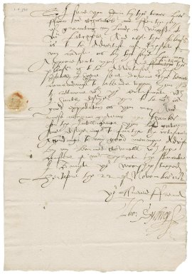 Letter from Thomas Sidney to Nathaniel Bacon