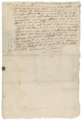 Letter from Cleophas Simpson to Sir Robert Townshend