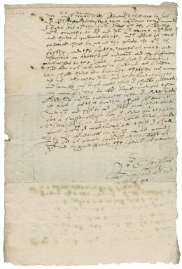 Letter from Cleophas Simpson to Michael Stanhope