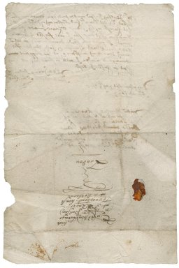 Letter from William Sinclair [i.e. Sincklar] to William Palfrey