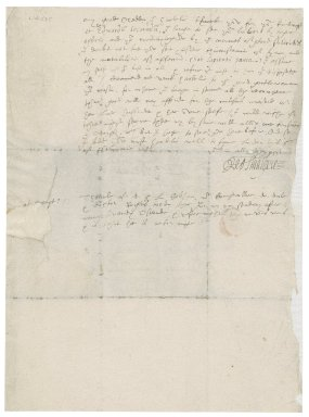Letter from [Leo?] Smallpeice to Edward Walpole