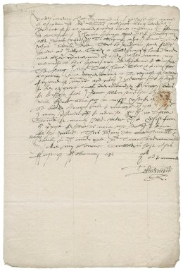 Letter from John Smith to Roger Townshend (1543?-1590)