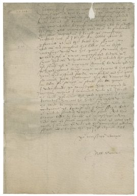Letter from Robert Sowell to Roger Townshend (1543?-1590)