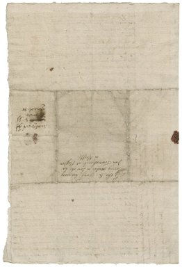 Letter from Sir John Spelman to Lady Anne (Bacon) Townshend