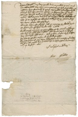 Letter from Samuel Stallon to Nathaniel Bacon