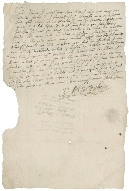 Letter from Michael Stanhope to Lady Jane (Stanhope) Townshend