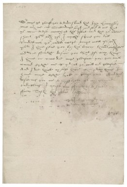 Letter from William Stumpe to Nathaniel Bacon