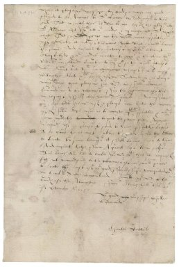Letter from Charles Stutevile [i.e. Stutfield] to Nathaniel Bacon