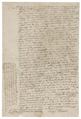 Letter from Henry Stutevile [i.e. Stutfield] to Nathaniel Bacon